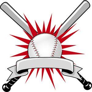 300x300 Baseball Clipart Image Baseball Sports Logo With Two Batsnd