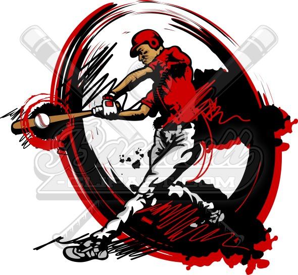 590x545 Baseball Vector Art Clipart Image