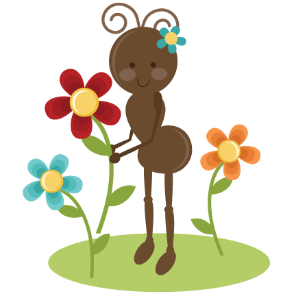 432x432 Cute spring clip art Cute Girl Ant Svg File For Cards