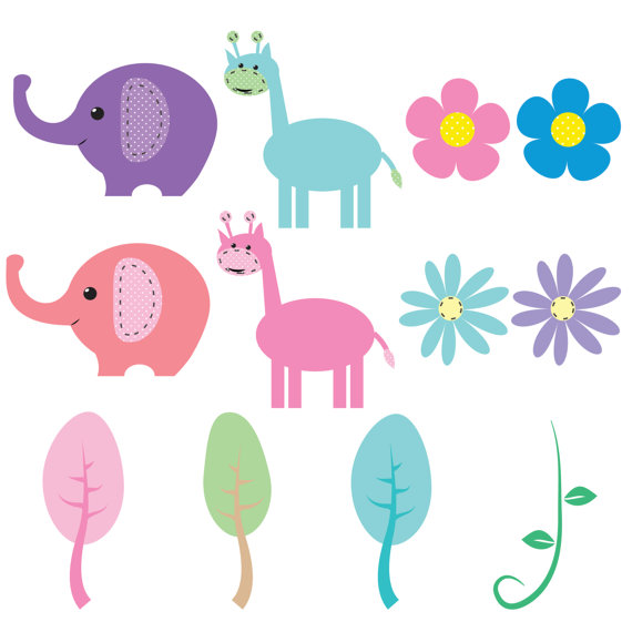 570x570 Spring Baby Animals Clipart For Digital By Amandailkov On Etsy
