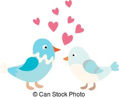 235x194 Cartoon Couple Of Doves In Love Icon Vector Illustration