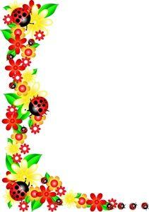 211x300 Spring Border Clip Art Clipart