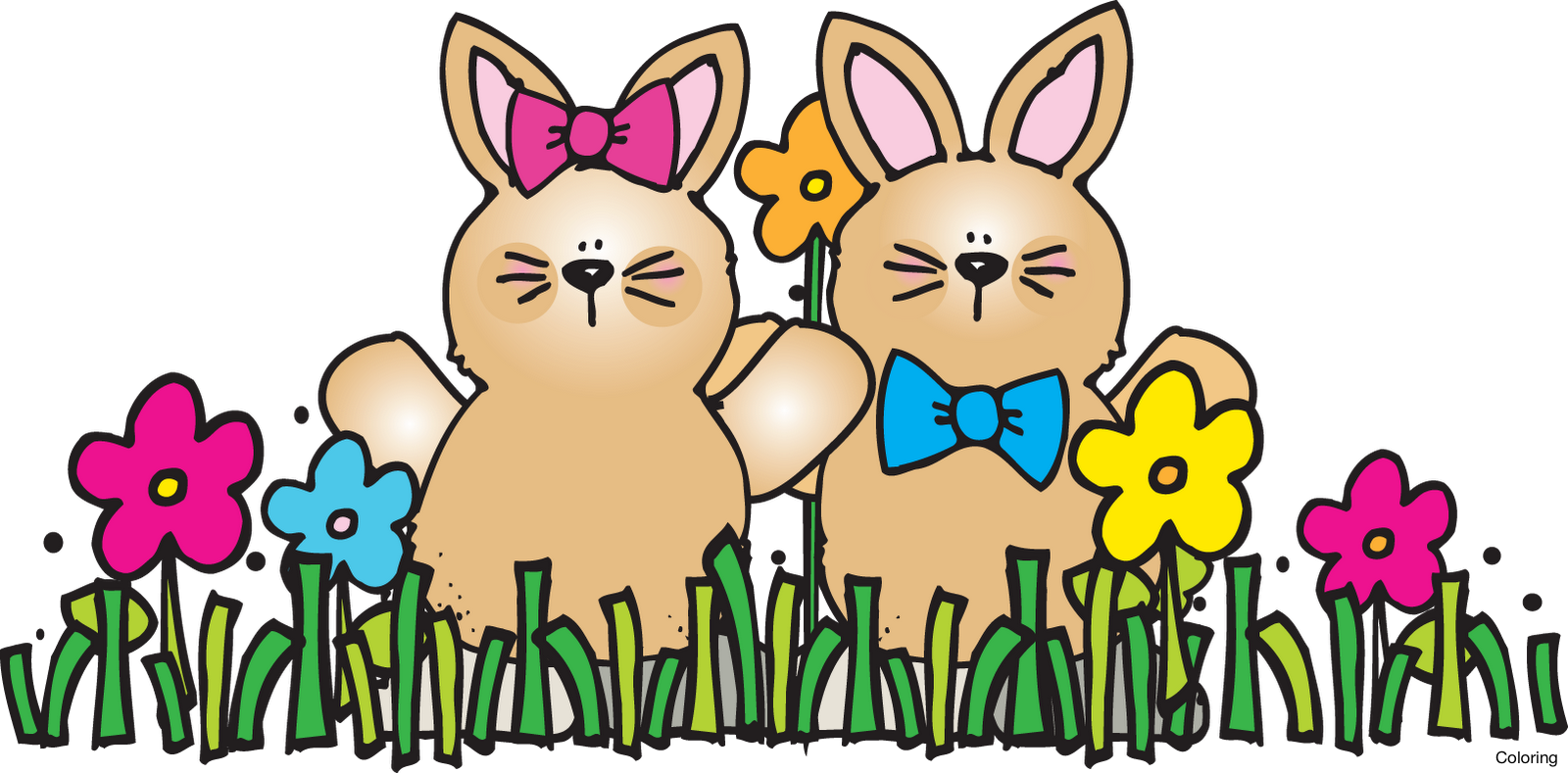 1600x789 Spring Bunny Cliparts Free Download Clip Art