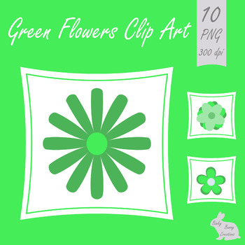 350x350 Flower Clip Art Green Spring Summer Clipart Images By