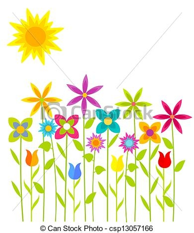 391x470 Flower Growing Clipart Flowers Meadow Spring Flowers Growing