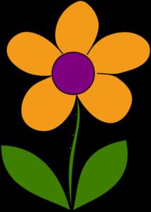 213x299 Orange Spring Flower Clip Art