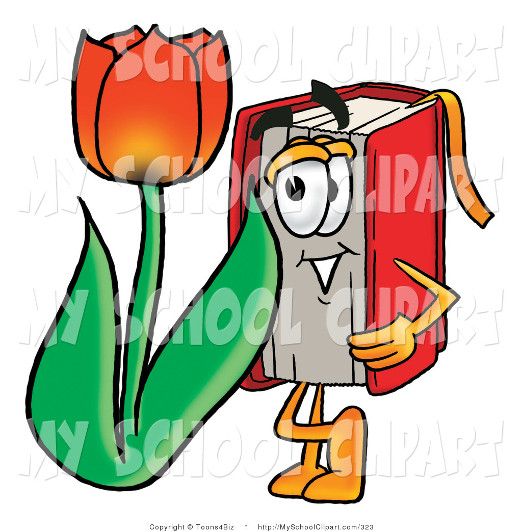 1024x1044 Clip Art Of A Happy Red Book Mascot Cartoon Character With A Red
