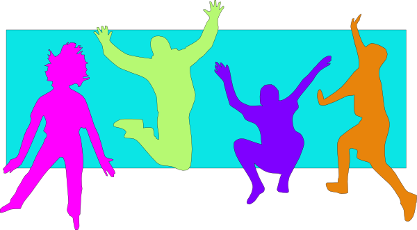 600x331 Jumping Kids (Spring) Clip Art