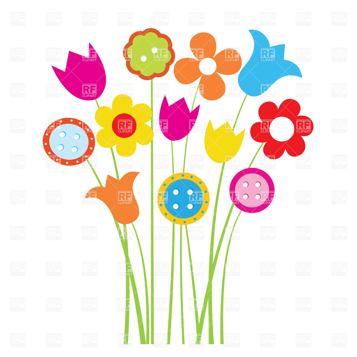 1200x1200 Free Clipart Pictures Of Flowers Free Clipart Spring Flowers Free
