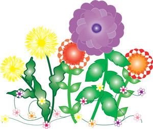 300x252 Clip Art Spring Flowers Abstract Flowers Abstract Art Spring
