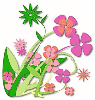 332x350 Free Clip Art Spring Flowers