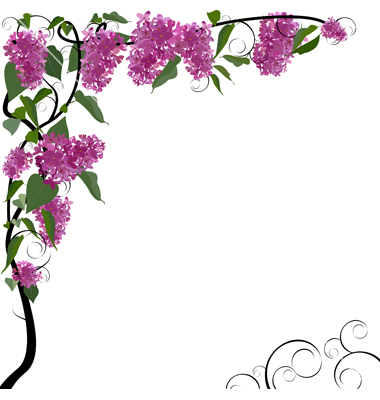 380x400 Free Floral Borders Frames Clipart