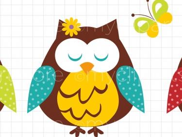 375x284 Spring Owl Clip Art