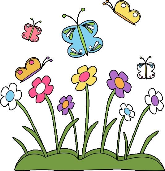 533x550 Springtime Flowers Clipart Spring Flowers And Butterflies Clip Art