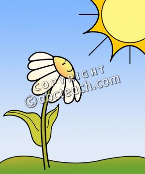 300x360 Springtime Sun Flowers Clip Art