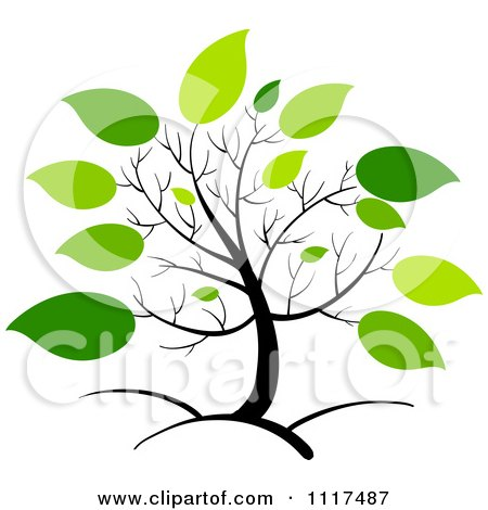 450x470 Royalty Free (Rf) Spring Foliage Clipart, Illustrations, Vector