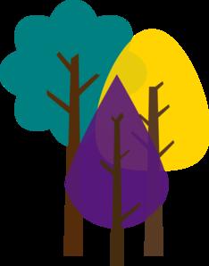 234x298 Spring Trees Clip Art