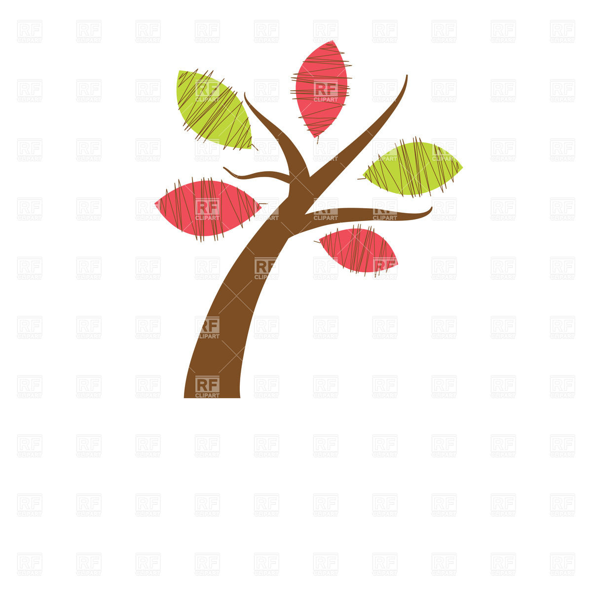 1200x1200 Beautiful Spring Tree On White Background Royalty Free Vector Clip