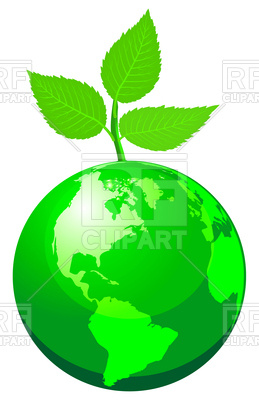 259x400 Green Globe With Sprout Royalty Free Vector Clip Art Image