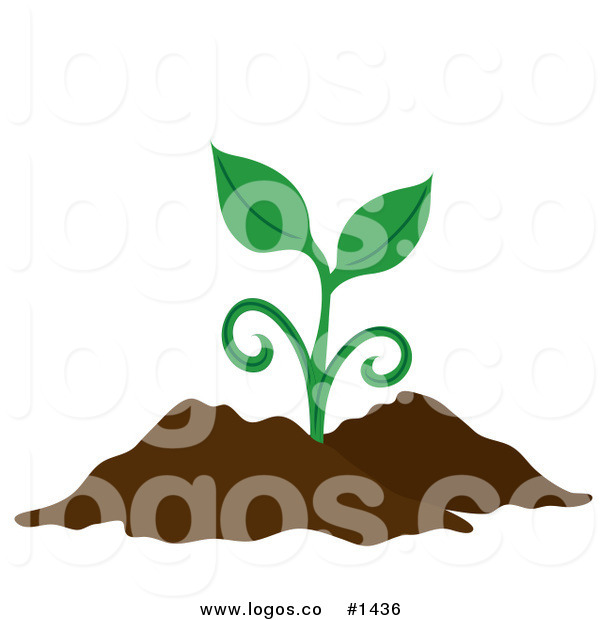 600x620 Royalty Free Vector Logo Icon Of A Green Plant Sprouting From Rich