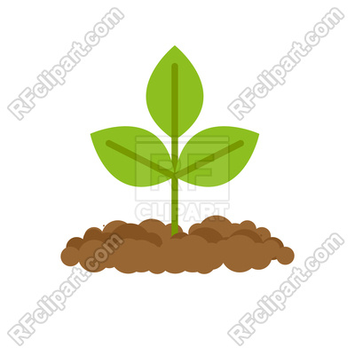 400x400 Sprout Grows From Ground Royalty Free Vector Clip Art Image
