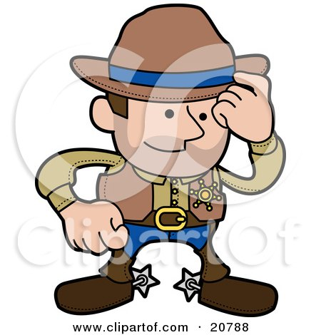 450x470 Clipart Illustration Of A Western Cowboy Sheriff Man In Chaps