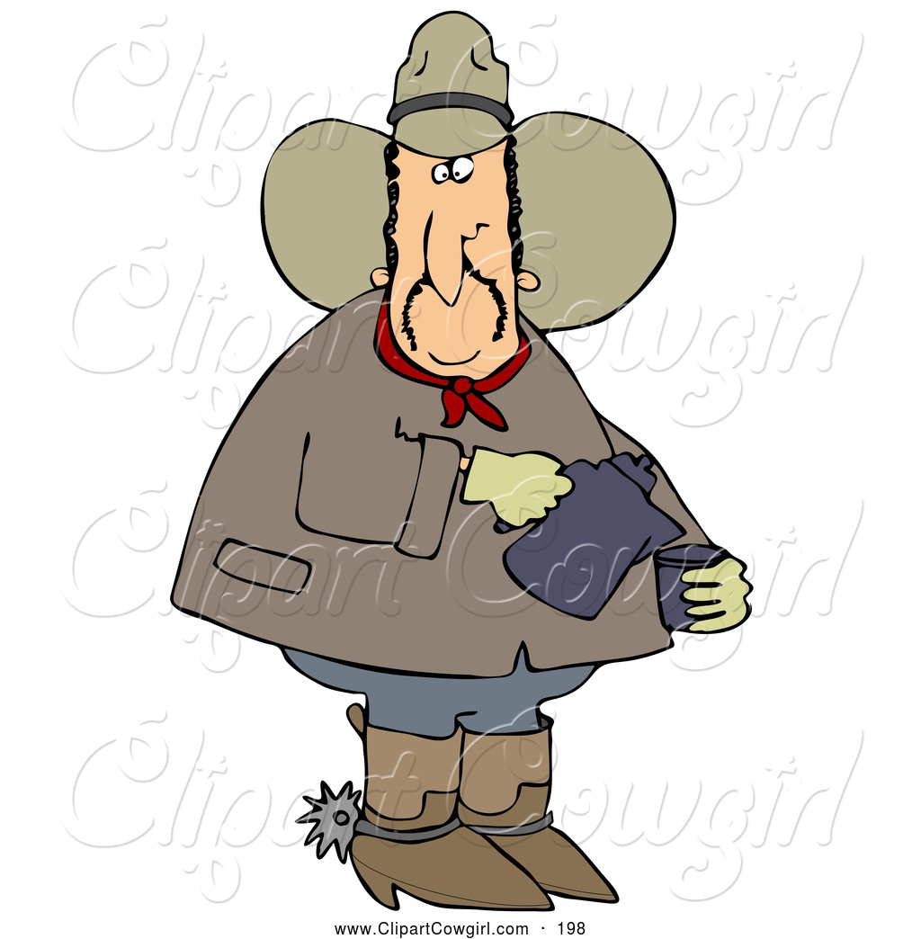 1024x1044 Clipart Of A Adventurous Chubby Cowboy In A Hat, Boots And Spurs