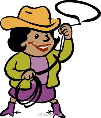 412x480 Cowgirl Royalty Free Vector Clip Art Illustration Vc019054
