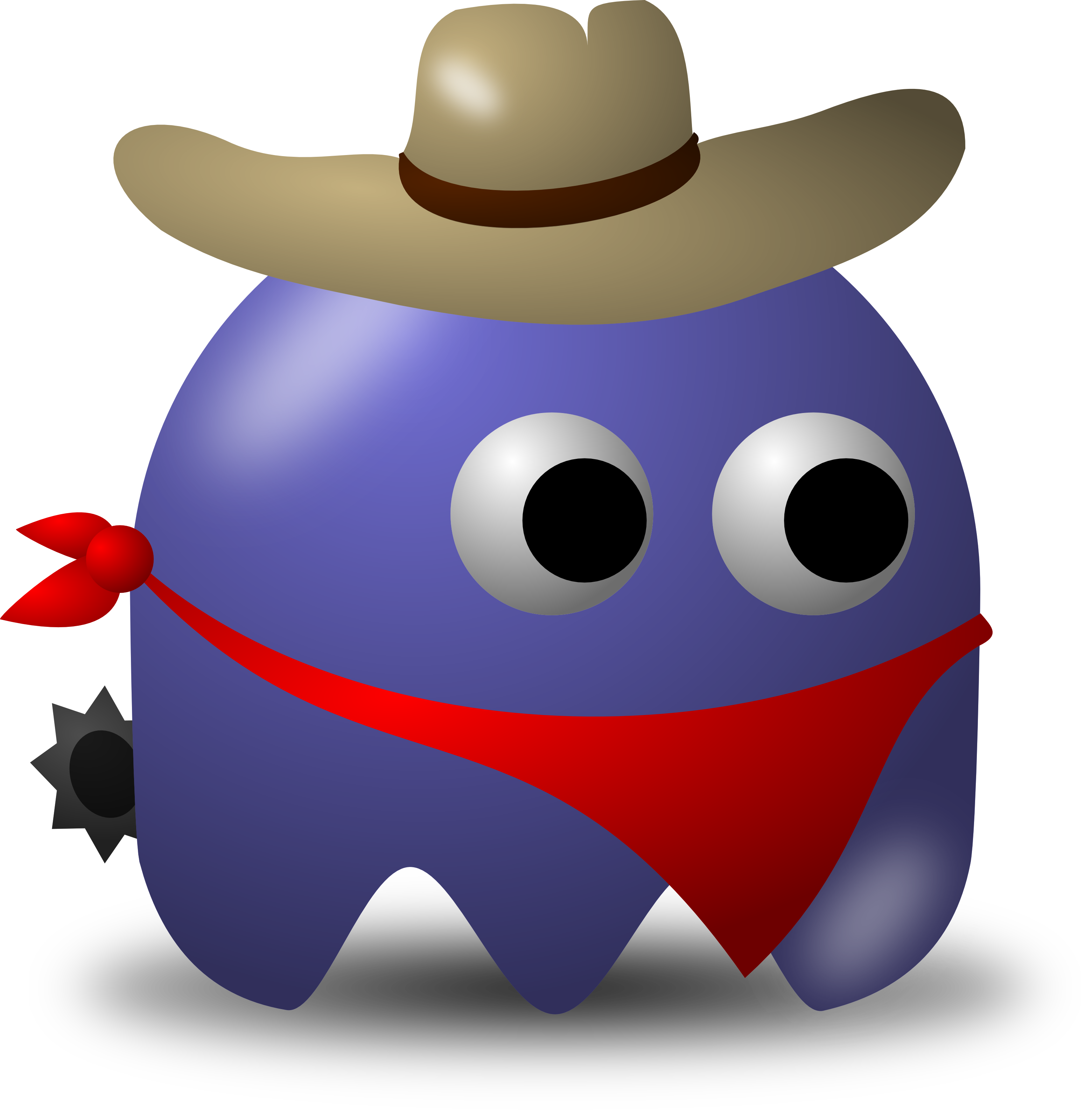 3120x3200 Rodeo Cowbow Avatar Character With Hat, Bandana, And Spurs
