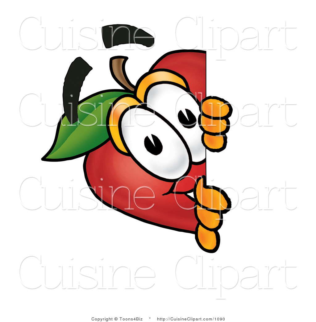 1024x1044 Cuisine Clipart Of A Curious Red Apple Character Mascot Peeking