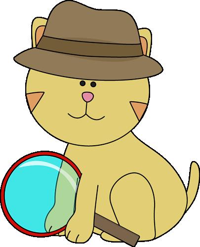 405x500 Detective Cat Clip Art