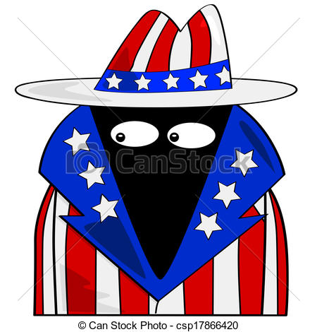 450x470 American Spy. Cartoon Illustration Showing A Spy Dressed