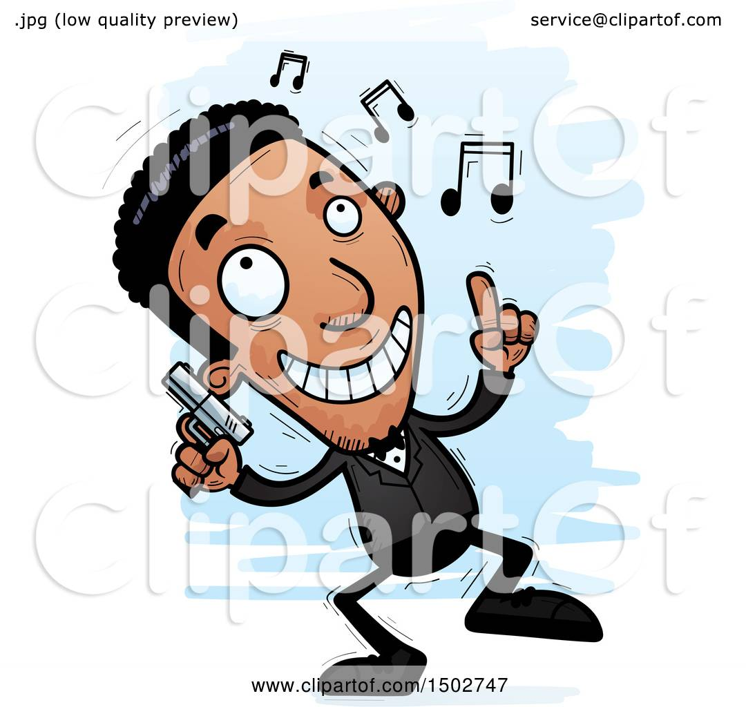 1080x1024 Clipart Of A Dancing African American Male Spy Or Secret Service