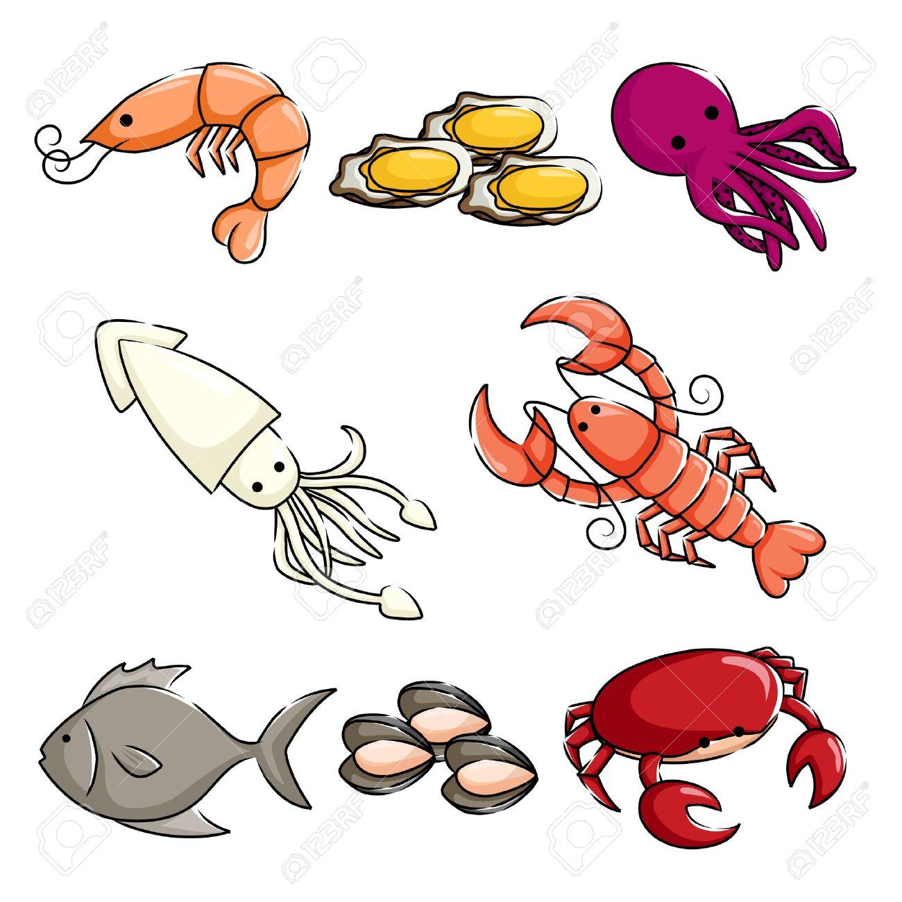 1300x1300 Squid clipart ocean animal