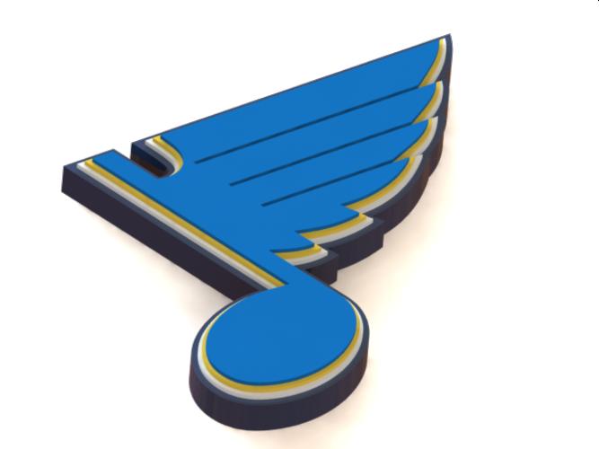 667x500 3d Printed Stlouis Blues Logo By Poplavskij Pinshape
