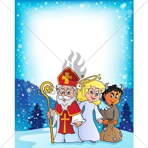 500x500 Saint Nicholas Day Theme 3 Gl Stock Images
