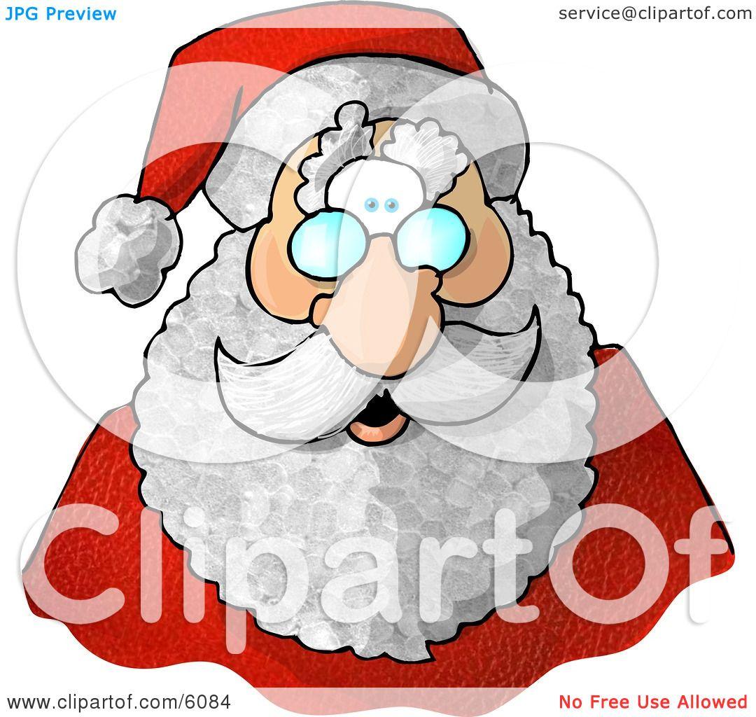1080x1024 Santa Claus' Face Clipart Picture By Djart