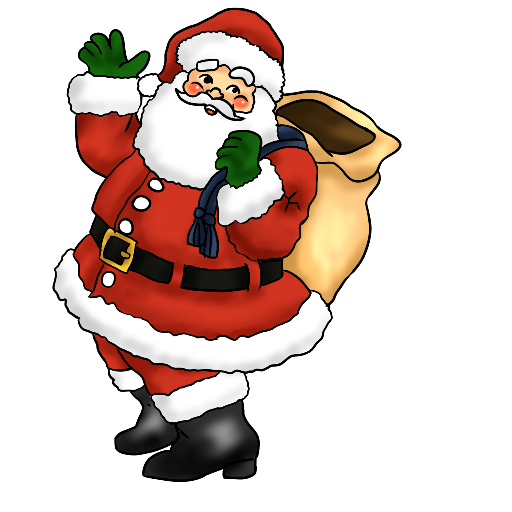1024x1024 Santa Claus Images, Wallpapers With Reindeer