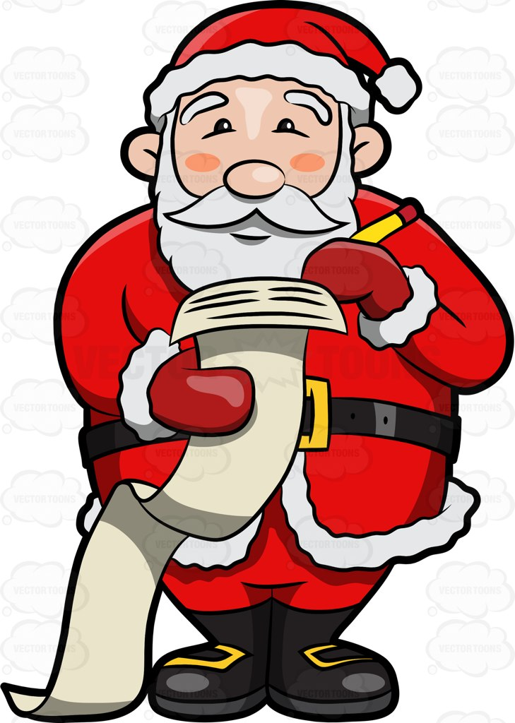729x1024 Santa Claus Making A Naughty And Nice List And Checking It Twice