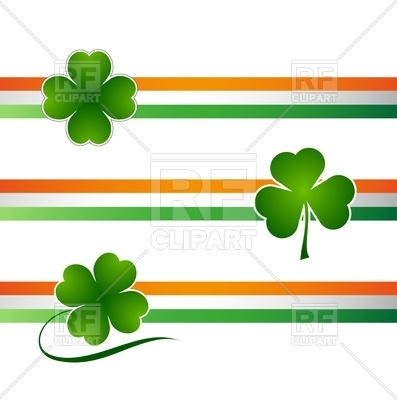 397x400 Clover Leaf Irish Background For Happy St. Patrick's Day Royalty