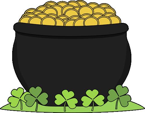 500x390 St Patrick Day Pot Of Gold Saint Patricks Day Clip Art Saint