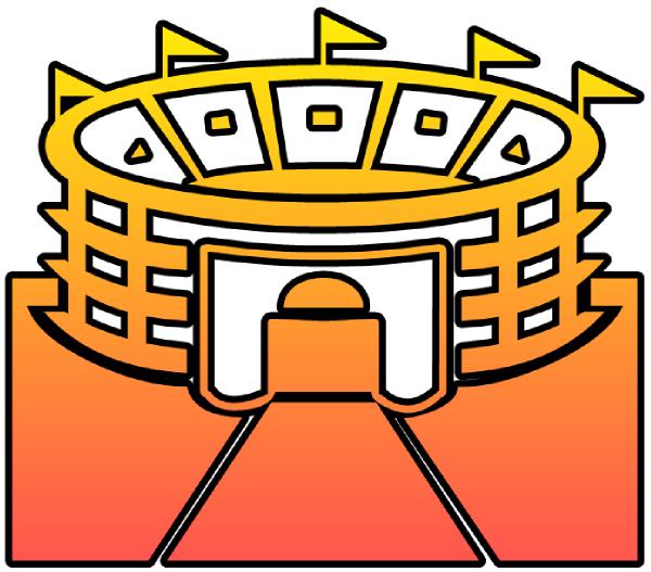 600x527 Stadium Cutout Clip Art
