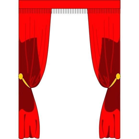 580x580 Curtain Border Clip Art Free