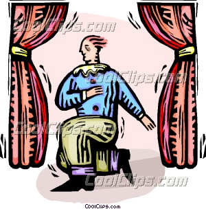 300x304 Man Acting On Stage Clip Art