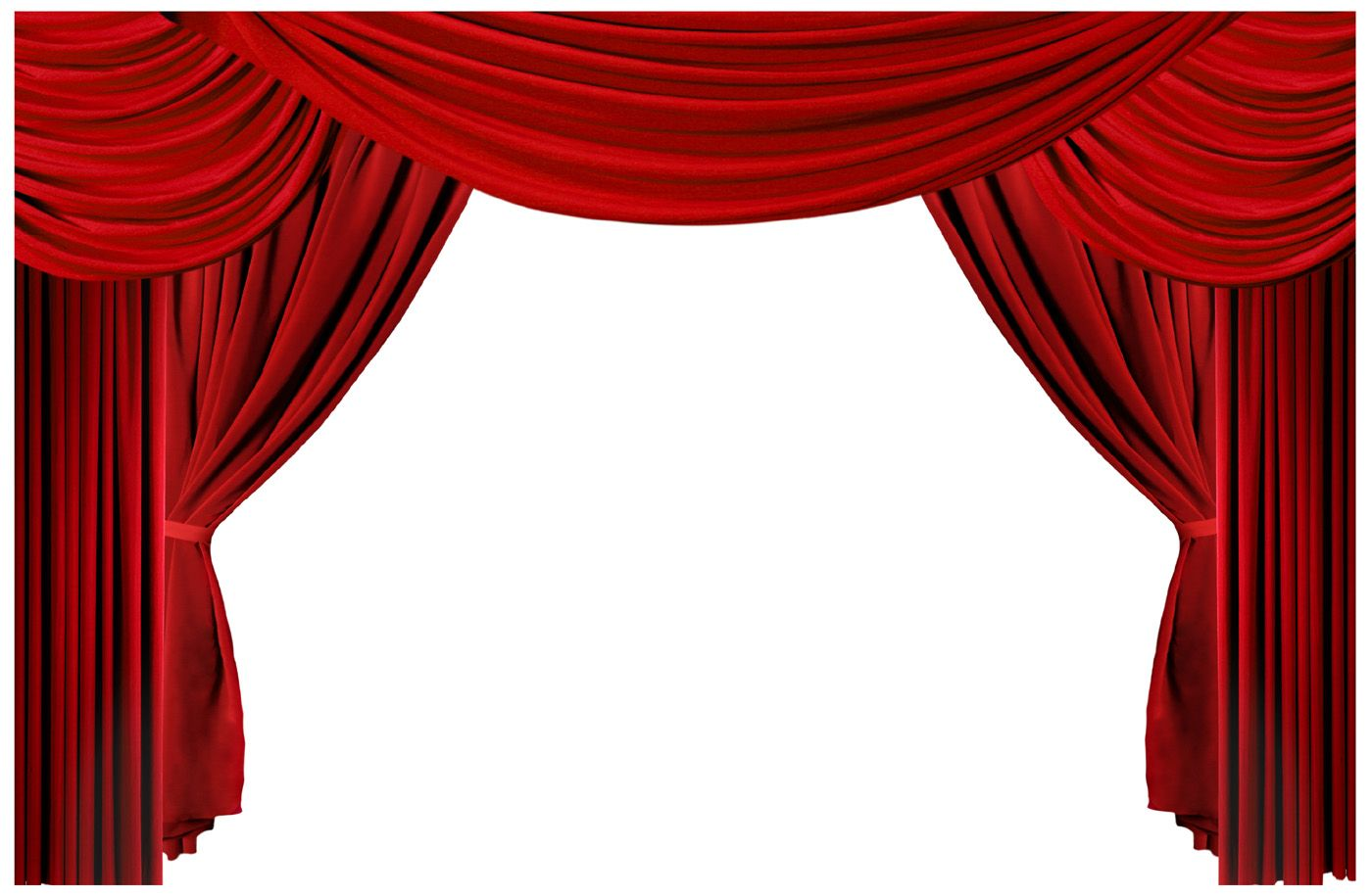 1400x915 Theater Stage Curtains Clip Art
