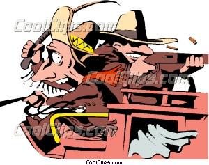300x237 Cartoon stagecoach Clip Art