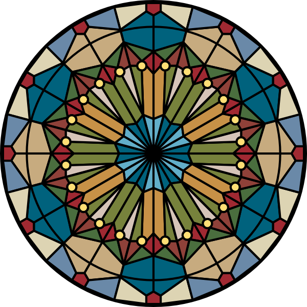 600x600 Glass Stained Glass Clip Art