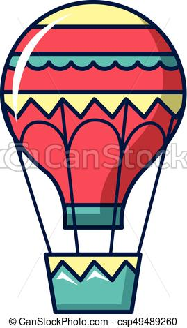 269x470 Hot Air Balloon Icon, Cartoon Style. Hot Air Balloon Icon . Clip