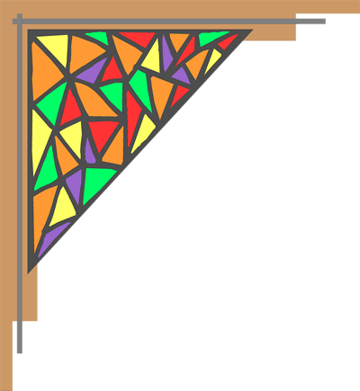 400x435 Stained Glass Border Clip Art Cliparts