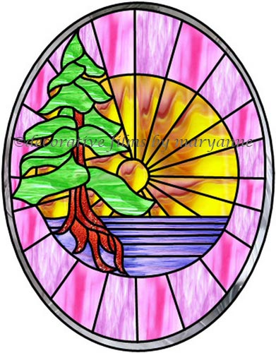 391x500 Stained Glass Clipart Sunburst